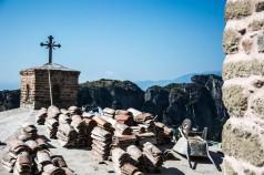 Igreja em restauração, Meteora