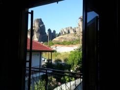 Vista do quarto em Meteora