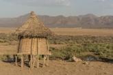 Paisagem em uma das tribos no Vale do Omo