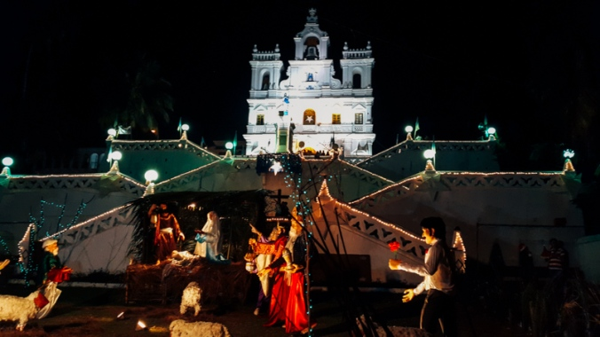 Igreja principal de Panjim, capital de Goa.
