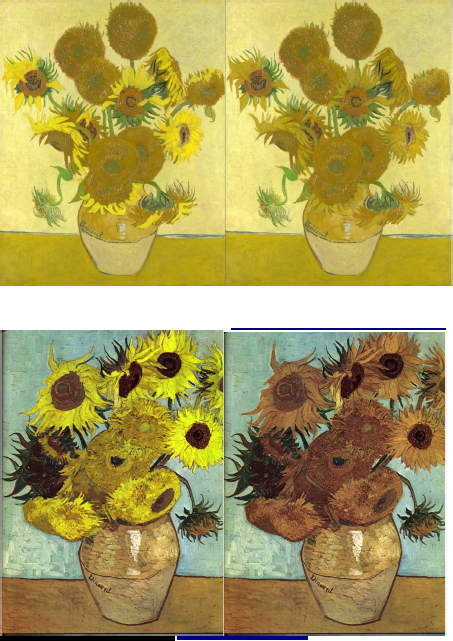 Van Gogh colour fading
