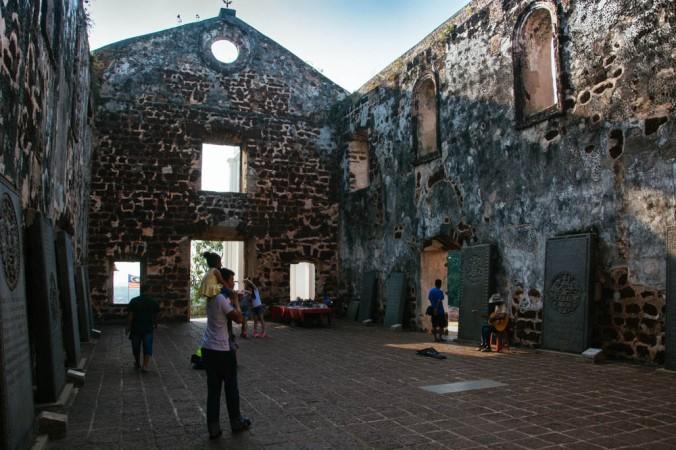 Antiga igreja portuguesa em Malacca, Malásia