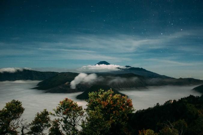 Monte Bromo, na Ilha de Java, Indonésia
